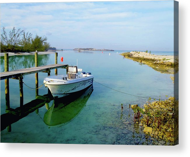 Hawks Nest Marina Acrylic Print featuring the photograph Hawks Nest Marina by Carey Chen