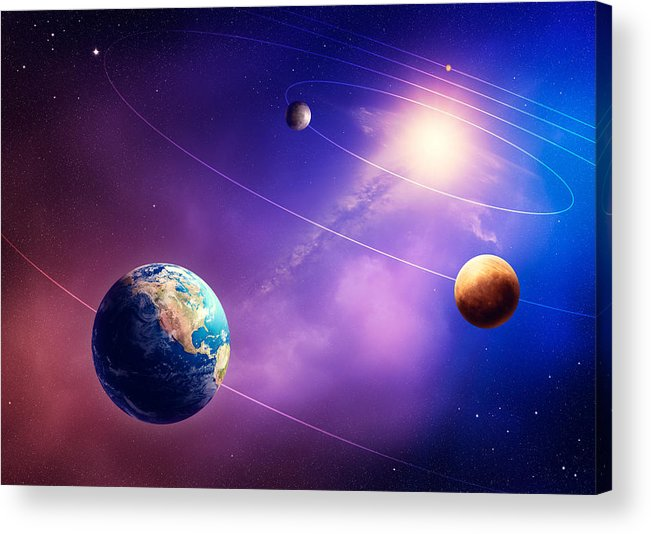 Planet Acrylic Print featuring the photograph Inner Solar System Planets by Johan Swanepoel
