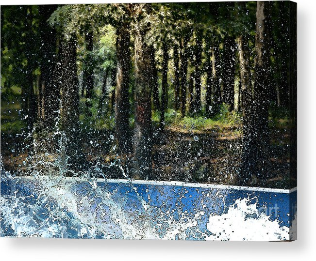 Water Acrylic Print featuring the photograph Ker Splash by Debbie Portwood