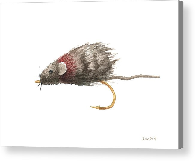 Fly Fishing Acrylic Print featuring the painting Little Rusty by Sean Seal