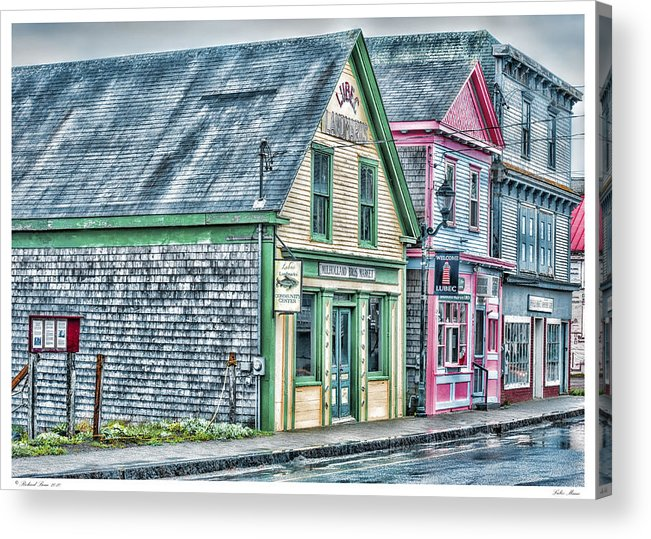 Architecture Acrylic Print featuring the photograph Lubec Maine by Richard Bean