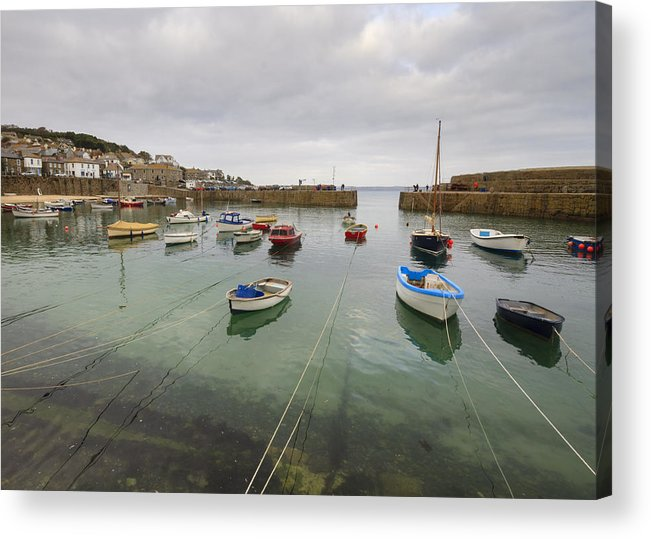 Mousehole Acrylic Print featuring the photograph Mousehole Harbour by Chris Smith