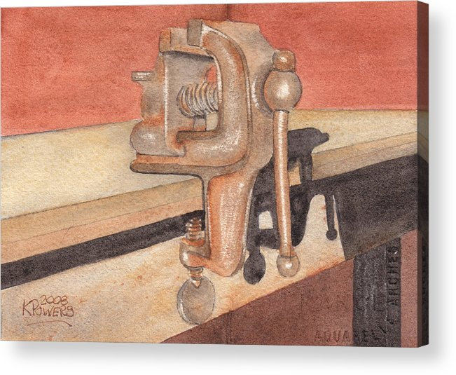 Vice Acrylic Print featuring the painting My Neighbors Vise by Ken Powers