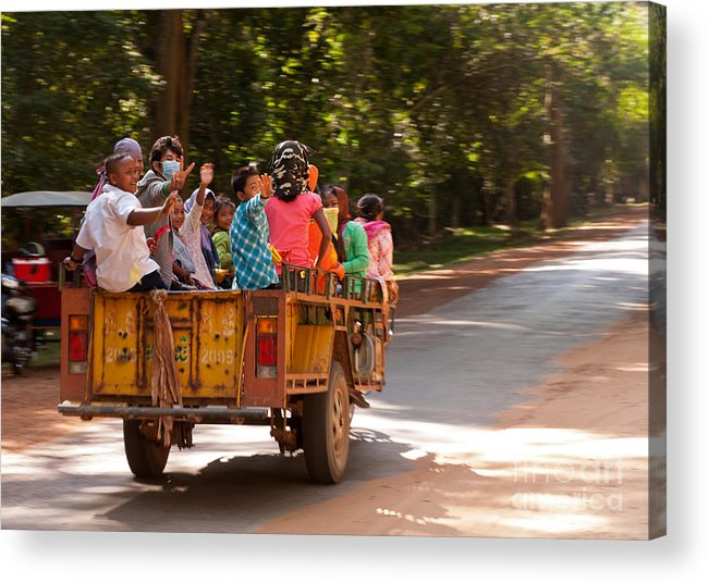 Cambodia Acrylic Print featuring the photograph Passengers by Rick Piper Photography