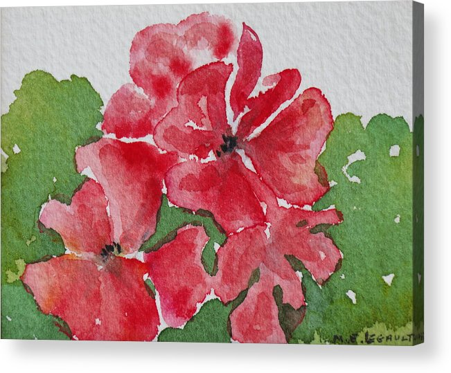 Floral Acrylic Print featuring the painting Pzzzazz by Mary Ellen Mueller Legault