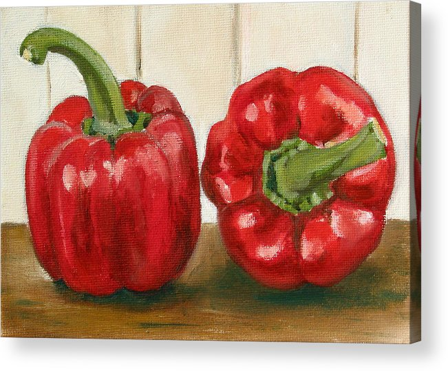 Food Acrylic Print featuring the painting Red Pepper by Sarah Lynch