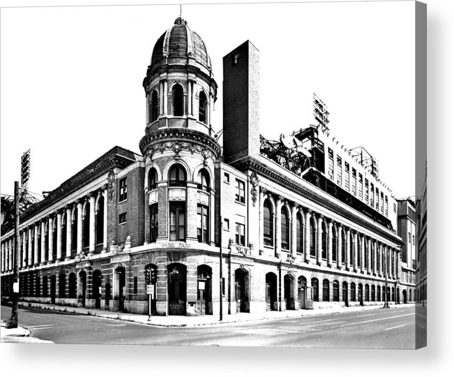 Shibe Acrylic Print featuring the photograph Shibe Park by Benjamin Yeager