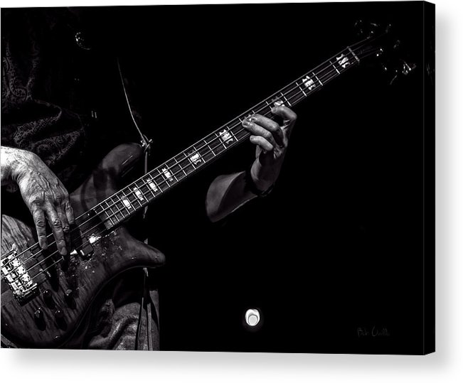 Bass Acrylic Print featuring the photograph Sounds In The Night Bass Man by Bob Orsillo