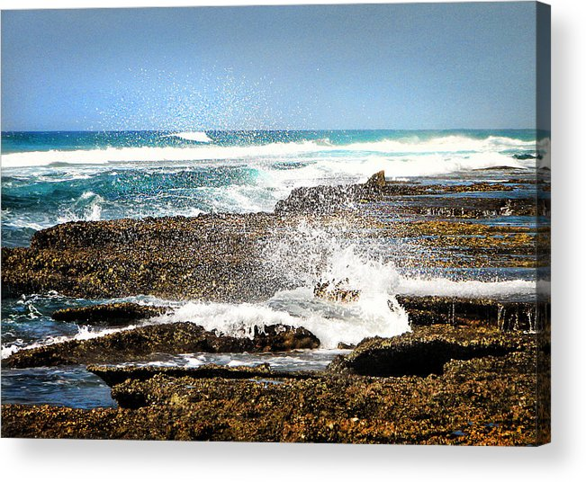 Sea Acrylic Print featuring the photograph Splashes At Sea by Ronel Broderick