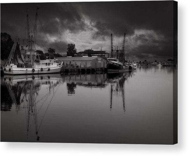 B&w Acrylic Print featuring the photograph Storm Is Coming by Mario Celzner