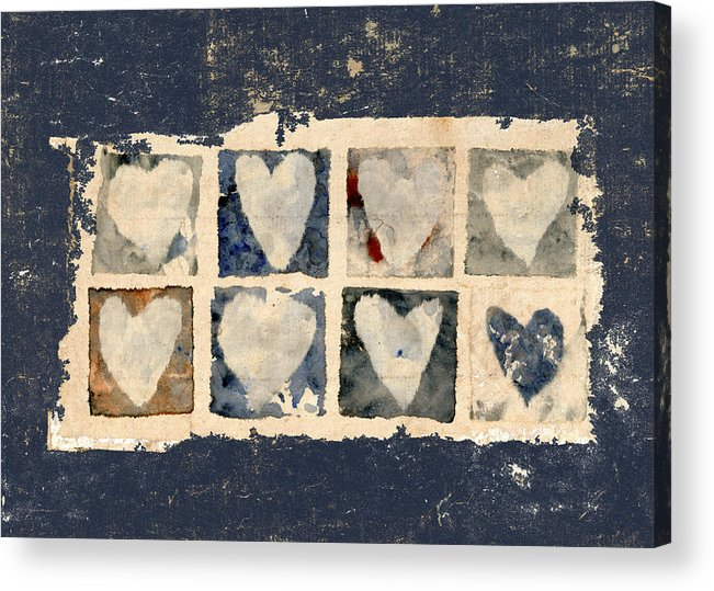 Eight Acrylic Print featuring the photograph Tattered Hearts by Carol Leigh