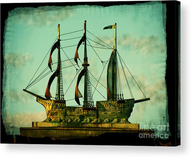 Ship Acrylic Print featuring the photograph The Copper Ship by Colleen Kammerer