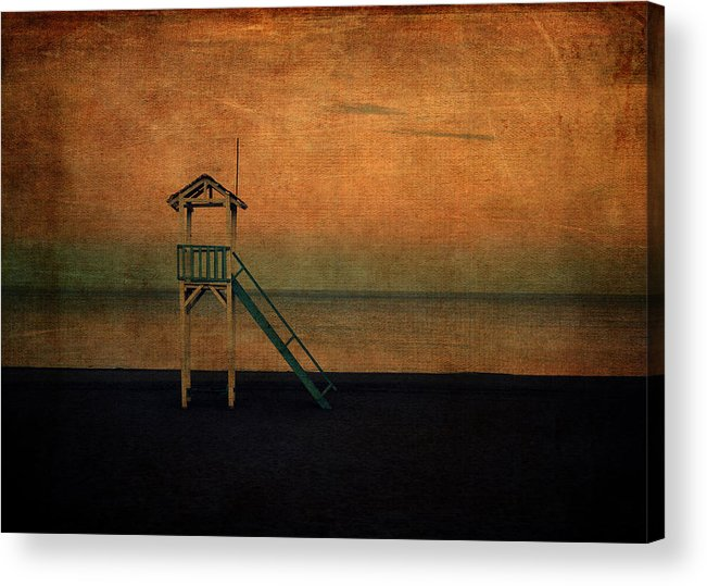 Sand Acrylic Print featuring the digital art The Lookout by Sarah Vernon