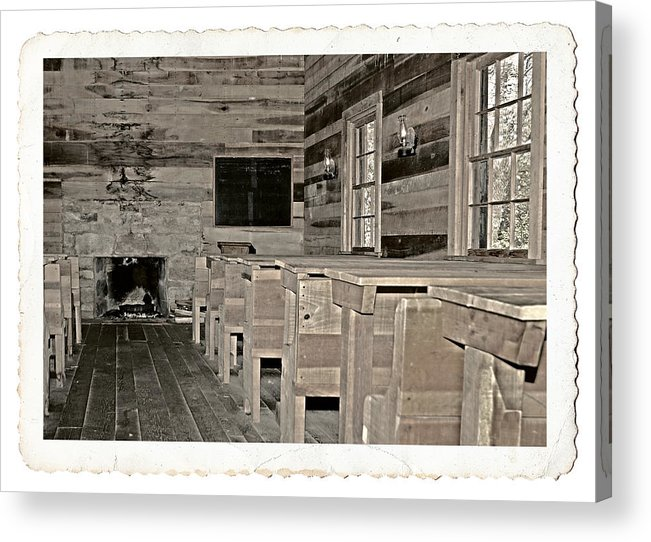 1800 Acrylic Print featuring the photograph The Old Schoolhouse by Susan Leggett