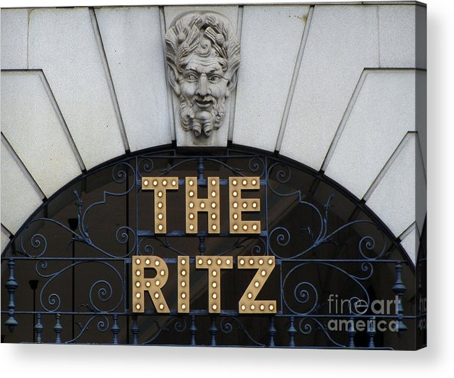 Ritz Acrylic Print featuring the photograph The Ritz London by Lesley Nolan