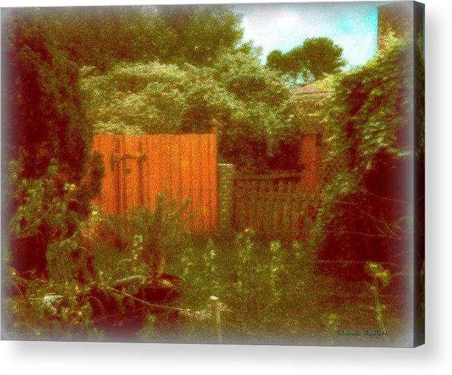 Homescape Acrylic Print featuring the mixed media The Side Yard by YoMamaBird Rhonda