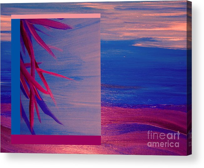 First Star Art Acrylic Print featuring the painting Tropical Sunrise By Jrr by First Star Art