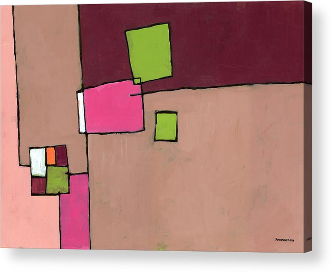 Abstract Acrylic Print featuring the painting Zipless by Douglas Simonson