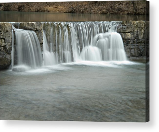 Arkansas Acrylic Print featuring the photograph 0902-7025 Natural Dam 3 by Randy Forrester