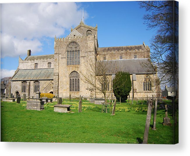 Cartmel Acrylic Print featuring the photograph Cartmel Priory by Peter Jenkins