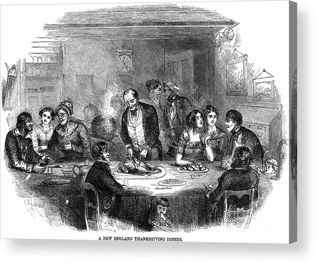 1850 Acrylic Print featuring the photograph Thanksgiving Dinner, 1850 by Granger