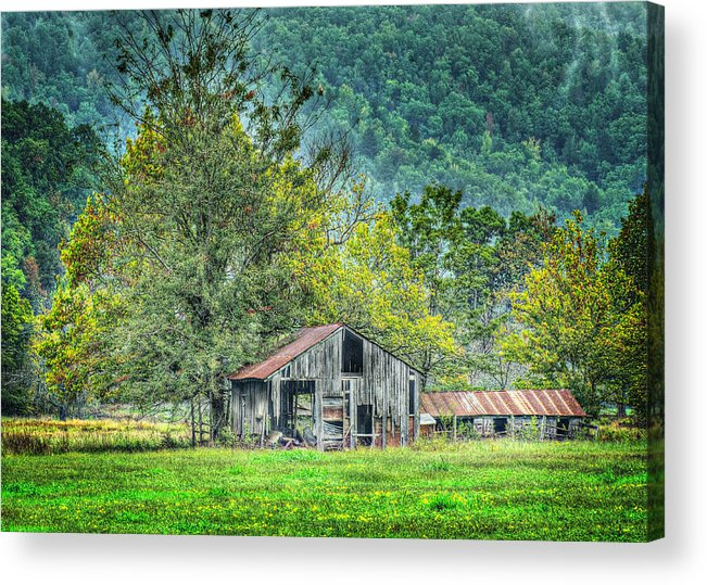 Barn Acrylic Print featuring the photograph 1209-1298 - Boxley Valley Barn 2 by Randy Forrester