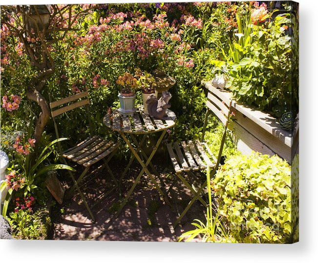 Print Acrylic Print featuring the photograph 542 Cf Peaceful Garden by Chris Berry