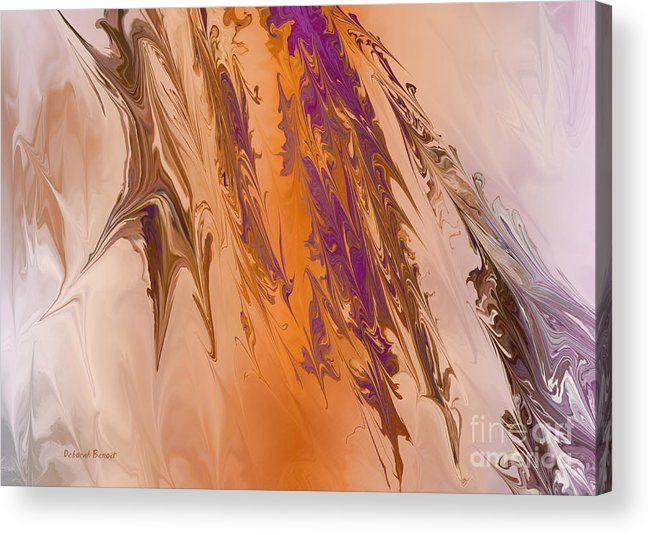 Abstract Acrylic Print featuring the digital art Abstract In July by Deborah Benoit
