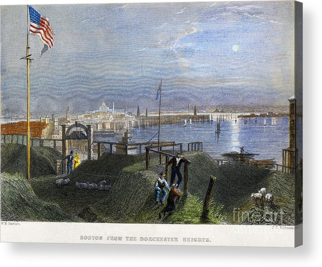 1838 Acrylic Print featuring the photograph Boston, Mass., 1838 by Granger