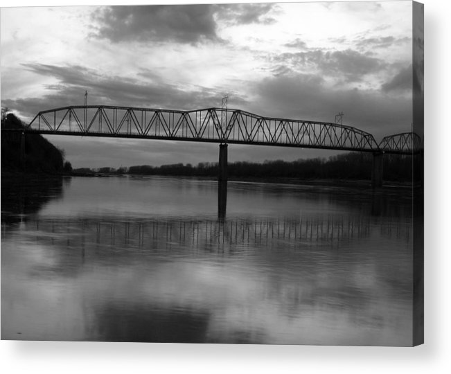 Bridge Acrylic Print featuring the photograph Bridge To The Past by David Heaney