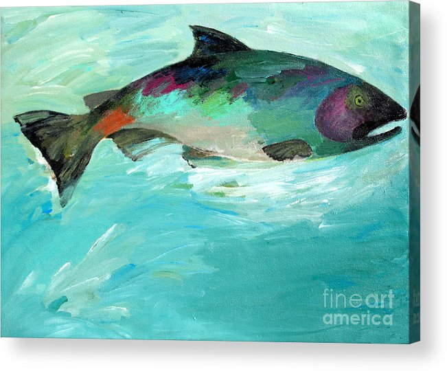 Water Acrylic Print featuring the painting Catch 2 by Lisa Baack