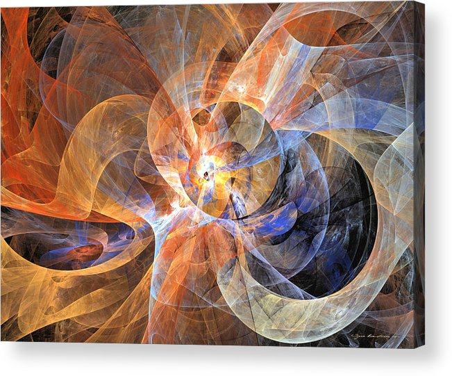 Fractal Acrylic Print featuring the digital art Cha Cha Cha by Sipo Liimatainen