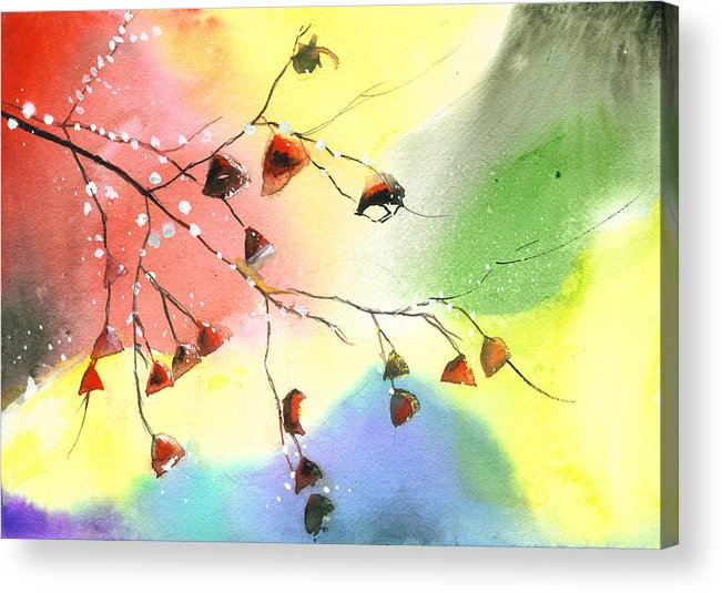 Nature Acrylic Print featuring the painting Christmas 1 by Anil Nene