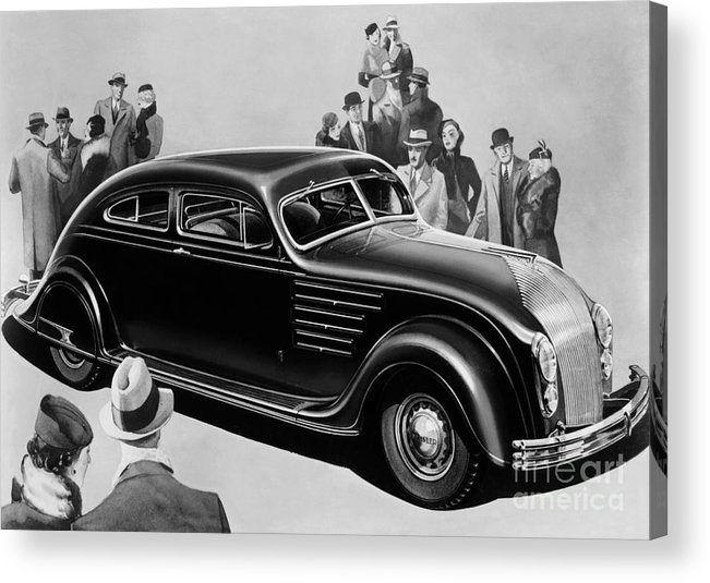 Chrysler Airflow Acrylic Print featuring the photograph Chrysler Airflow by Photo Researchers
