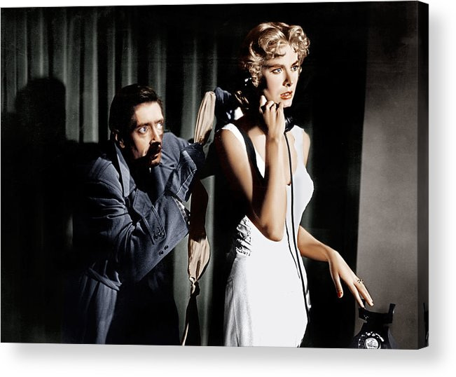 1950s Movies Acrylic Print featuring the photograph Dial M For Murder, From Left Anthony by Everett