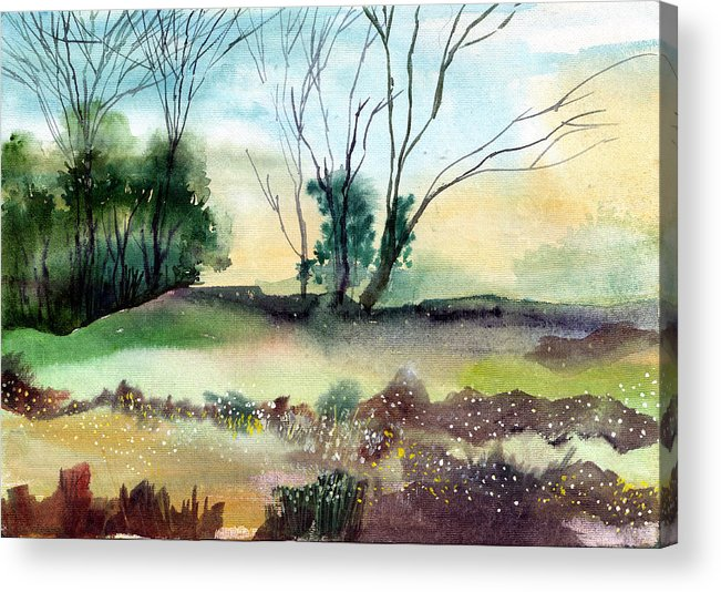Tree Acrylic Print featuring the painting Far Beyond by Anil Nene