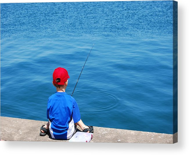 Activity Acrylic Print featuring the photograph Fishin' by Kim French