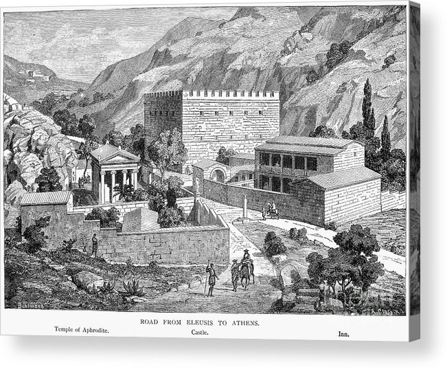 Ancient Acrylic Print featuring the photograph Greece: Road To Athens by Granger