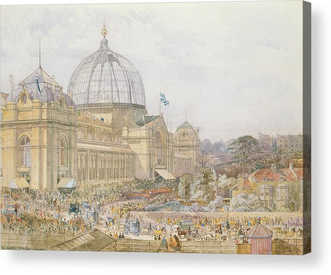 Building Acrylic Print featuring the painting International Exhibition by Edward Sheratt Cole