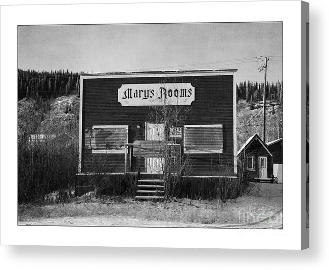 Old Acrylic Print featuring the photograph Mary's Rooms by Priska Wettstein