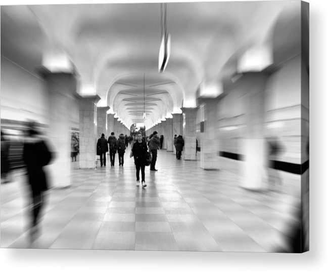 Adult Acrylic Print featuring the photograph Moscow Underground by Stelios Kleanthous