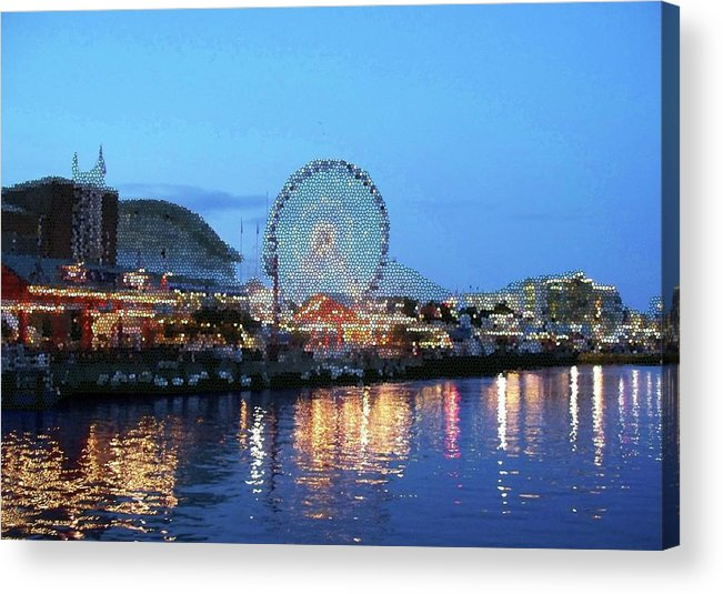 Cities Acrylic Print featuring the digital art Navy Pier Chicago Digital Art by Thomas Woolworth