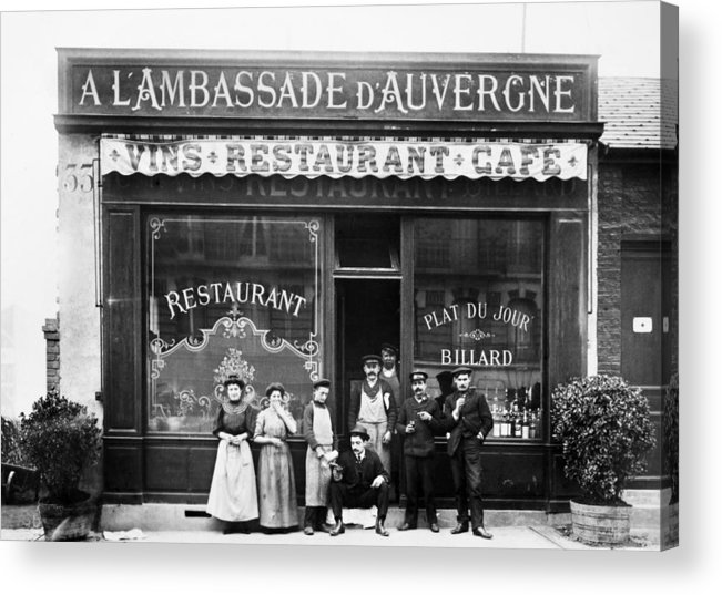 1900 Acrylic Print featuring the photograph Paris: Restaurant, C1900 by Granger
