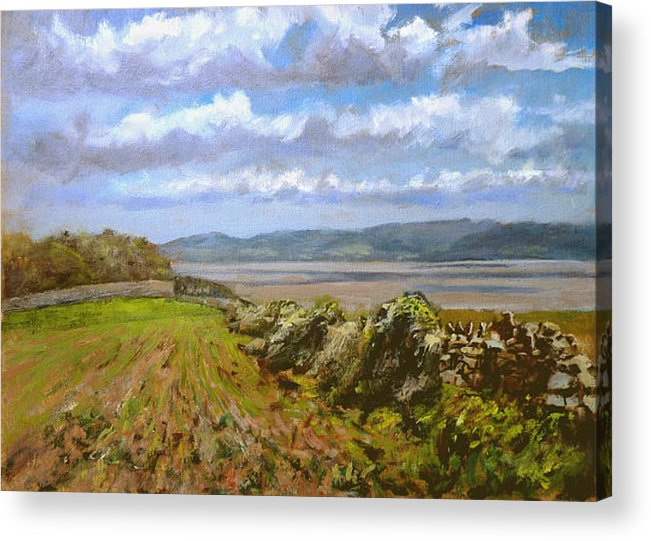 Landscape Acrylic Print featuring the painting River Severn View by Andrew Taylor