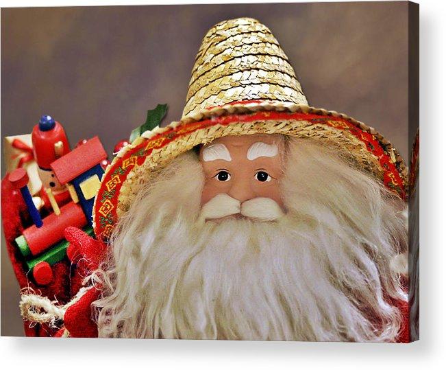 Santa Claus Acrylic Print featuring the photograph Santa Is A Gardener by Christine Till