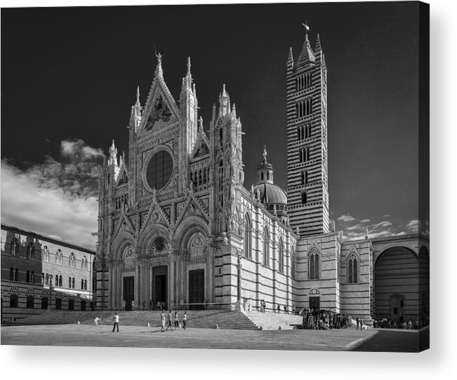 B & W Acrylic Print featuring the photograph Siena Duomo by Michael Avory