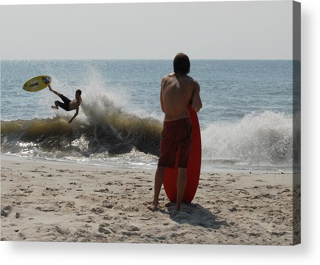 Kite Surfing Acrylic Print featuring the photograph Skimboarding 58 by Joyce StJames