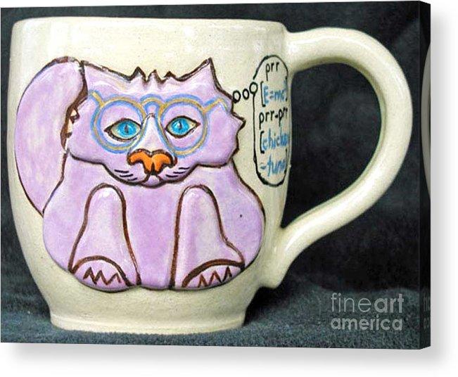 Kitty Acrylic Print featuring the photograph Smart Kitty Mug by Joyce Jackson