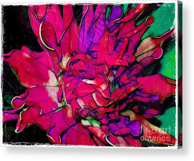 Fabric Acrylic Print featuring the photograph Swirly Fabric Flower by Judi Bagwell
