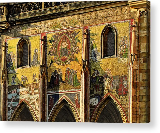 Judgment Acrylic Print featuring the photograph The Last Judgment - St Vitus Cathedral Prague by Christine Till